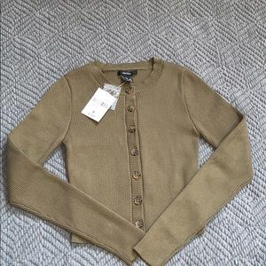 Forever 21 Olive Green Knit Crop Sweater